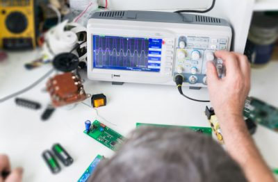 Two way radio repair and fixing a circuit board in Louisville, KY.