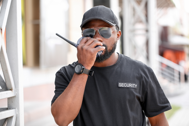 Security guards in Louisville, KY are just one example of a job that uses two way radios vs. cell phones.