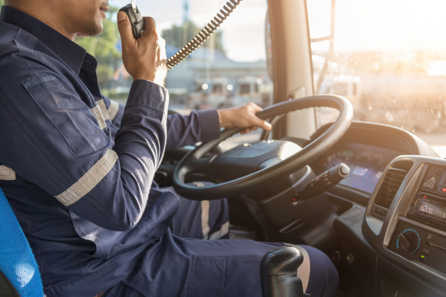 Truck drivers who come and go from Louisville, KY can stay way safer on the road by using two way radios vs. cell phones.